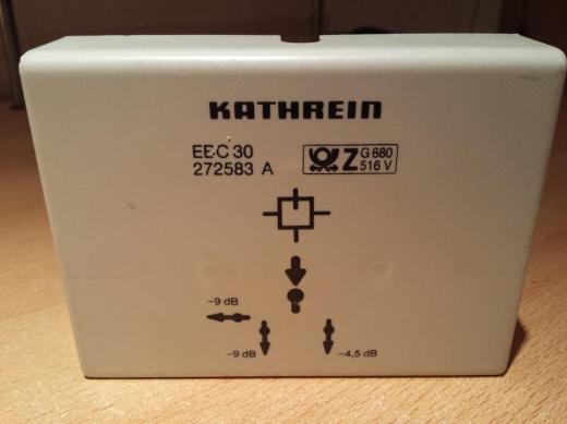 Kathrein 3 fach Kabelfernsehen Koaxverteiler EBC 30 - Verden (Aller)