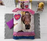 Bettwäsche Love Horse Pink 135x200 ReVyt - Friesoythe