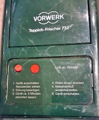 Vorwerk Teppichfrischer 732 Artikel Nr.: TR73002 - Verden (Aller)
