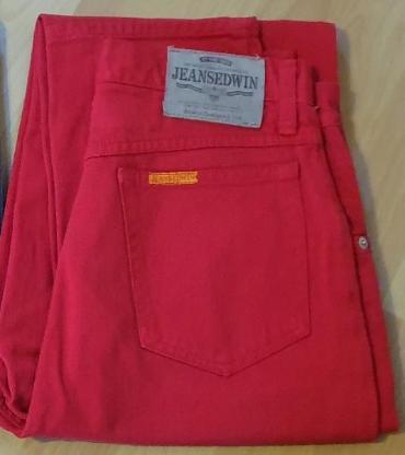 4 x Stück Jeans Edwin Newton Slim weiss W-33, beige W-32, rot W-31 + iceblue Houston W-31 - Verden (Aller)