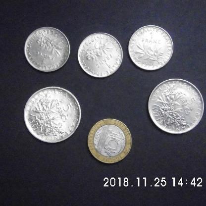 Frankreich Franc Münzen - Bremen Woltmershausen