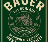 Witziges Blechschild Bauer ist schlau - Alu - gestanzt - 17x22 cm - Scheeßel