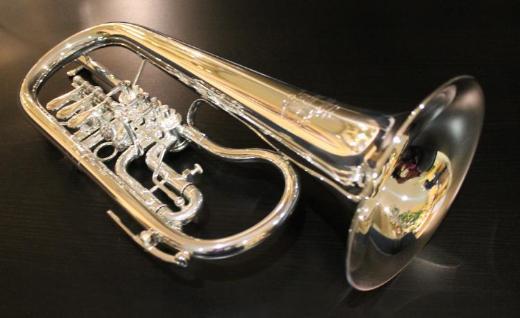Deutsches B & S Konzert - Flügelhorn, echt versilbert, Neuware