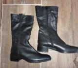 neuwertige schwarze Stiefel Gr. 40 von Fabiani, Langschaft hoch - Bremen