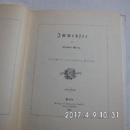 Theodor Storm Immensee von 1857 - Bremen