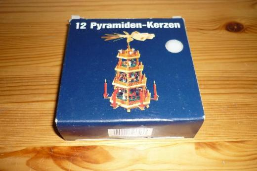 12 Pyramiden-Kerzen, weiß