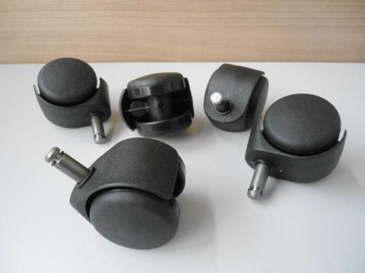 Drehstuhlrollen Ø 50 mm, Stift: 10 mm, für weiche Böden, Stuhlrollen, Büromöbel - Bremen