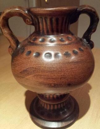 4 x Stück verschiedene Handgearbeitete Vasen in braun /rotschwarz - Verden (Aller)