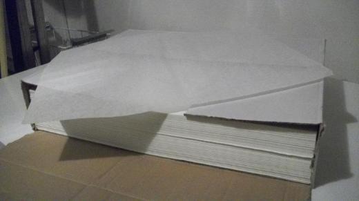 Pergamentpapier in Bögen, zur Lebensmittelverpackung - Visselhövede