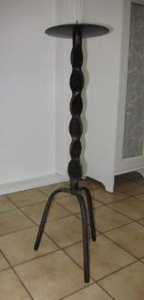 Wandleuchter und Standleuchter aus Schmiedeeisen 76cm hoch