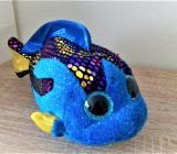 Plüsch Fisch blau mit Glitzeraugen - Holdorf