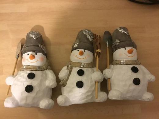 Schneemänner aus Keramik - Bremen