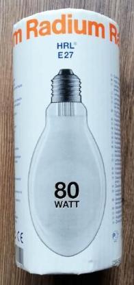 Radium HRL 80W/230/E27 (Quecksilberdampf-Hochdrucklampe) - Verden (Aller)
