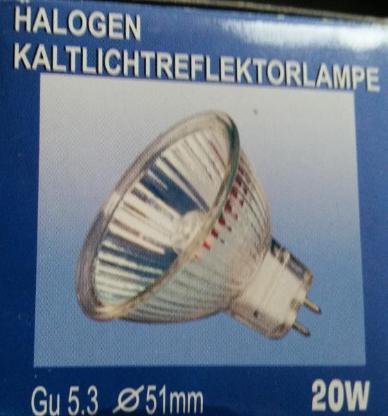 8 x Halogen Kaltlichtreflektorlampe 20 Watt GU5.3 in Verpackung - Verden (Aller)