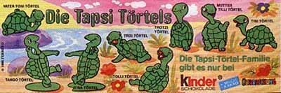 Ü-Eier jeweils nur 2 Figuren Tapsi Törtels 1987, Peppy Pingo Party1994, Sonne Mond Sterne 1994 - Verden (Aller)