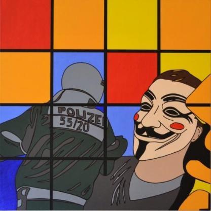 "Acrylbild ""The Mask"" von Ramke.Art - Bremen"