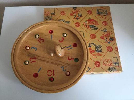 Altes Vintage Holzspiel - Tiroler Roulette, 50er Jahre - Bremen
