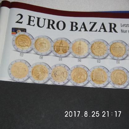 4 Stück 2 Euro Münzen Stempelglanz 47