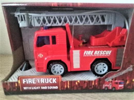 Feuerwehr mit Licht und Sound 16 x 7 x 11 cm - Holdorf