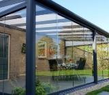 Glasschiebewände - Glasschiebewand - Terrasse - Terrassendach - Zeven