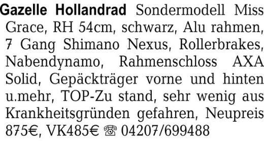 Gazelle Hollandrad Sonder -