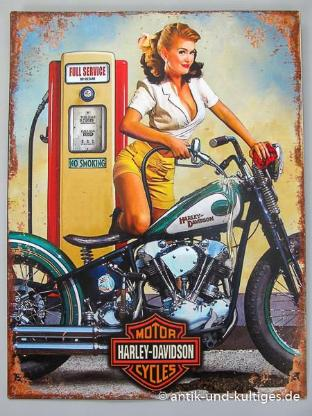 Blechschild Motor Cycles - Harley Davidson - 33x25 cm - Scheeßel
