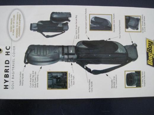 Golf Reisebag, 4,5 kg, 34x32x104, schwarz/graphit, - Bremen