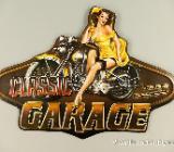 Blechschild Classic Garage - Pin Up Girl - 50x36 cm - Scheeßel