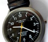 Flache Marken-Armbanduhr, Titan, Lederarmband, Batterie neu, gut ablesbar! - Diepholz