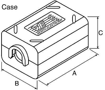 Würth geteilter Ferritkern,36.3 x 24.2 x 19.7 mm,für Kabel-Ø 9 mm - Verden (Aller)