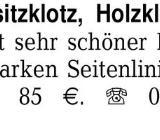 Gr. Buchensitzklotz, Holz -