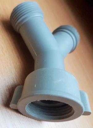 """Y-Verteiler Gabelanschluss PVC Zulaufschlauch 3/4"""" Waschmaschine - Verden (Aller)"""