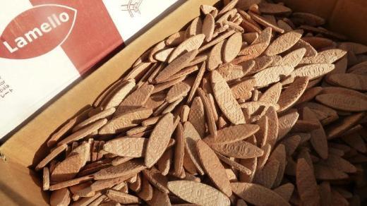 0,10 Kg LAMELLOS (Gr 0) ca.60 Stück,  6,- €- - Formfedern -  Verbindungsplättchen- Holzverbindungsplättchen -Holzlamellen - Worpswede