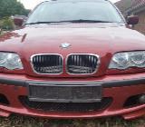 BMW E46 320i Limousine Sienarrot 2 Metallic mit M-Paket Front und Heck - Sulingen
