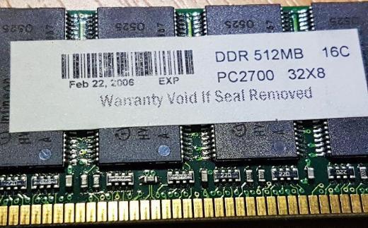 Arbeitsspeicher 512 MB DIMM, DDR PC 2700 ( HVB25D256800BT-5 ) - Verden (Aller)