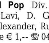 Schlager und Pop: div. Si -