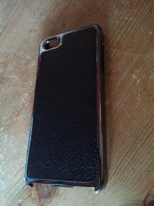Apple I Phone 5/5s Case in Chrom und echtem Leder - Verden (Aller)