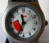 Seltene, originelle Armbanduhr mit Edelstahl-FLEXO-Armband, Batterie neu - Zustand echt gut! - Diepholz