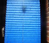3 Jalousien für Fenster – Plissee - Sonnenschutz – neu - blau - Langwedel (Weser)