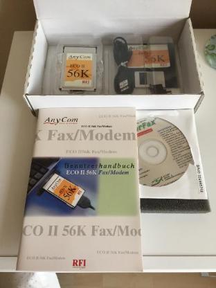 AnyCom ECO II 56K Fax/Modem PCMCIA für Notebooks -Neu- - Bremen
