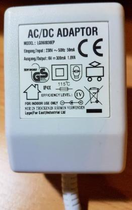 Original Medion Netzteil Adaptor LG 060030EP 6 V-300 mA 1.8 VA - Verden (Aller)