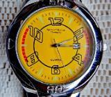 Neue Herren-Sport-Armbanduhr mit Gliederarmband, Datumanzeige, alles Edelstahl - Diepholz
