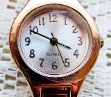 Rose`goldfarbig! Damen-Armbanduhr mit Glieder-Armband, Batterie neu, Zustand sehr gepflegt! - Diepholz