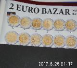 3 Stück 2 Euro Münzen aus drei Ländern Zirkuliert - Bremen