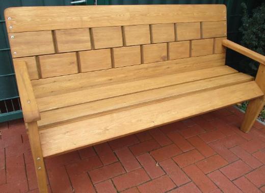 Gartenbank aus Holz handgefertigt - Emstek