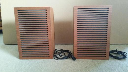 Lautsprecher Boxen 2 Stück mit Holzgehäuse, (Nussbaum), 10 Ohm, Top Zustand