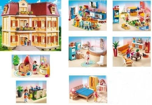 PLAYMOBIL 5302 Mein Großes Puppenhaus (Puppenhaus, Einrichtung, Beleuchtung)