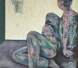 In Gedanken verloren I - Acryl auf Leinwand 40 x 50 cm Original Ingrid Wolff-Bleekmann - Münster