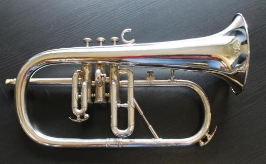 Original Willson B - Flügelhorn, versilbert mit Koffer