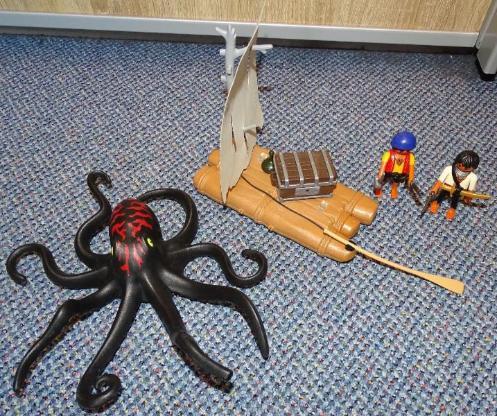 Playmobil Piratenfloß mit Krake 4291
